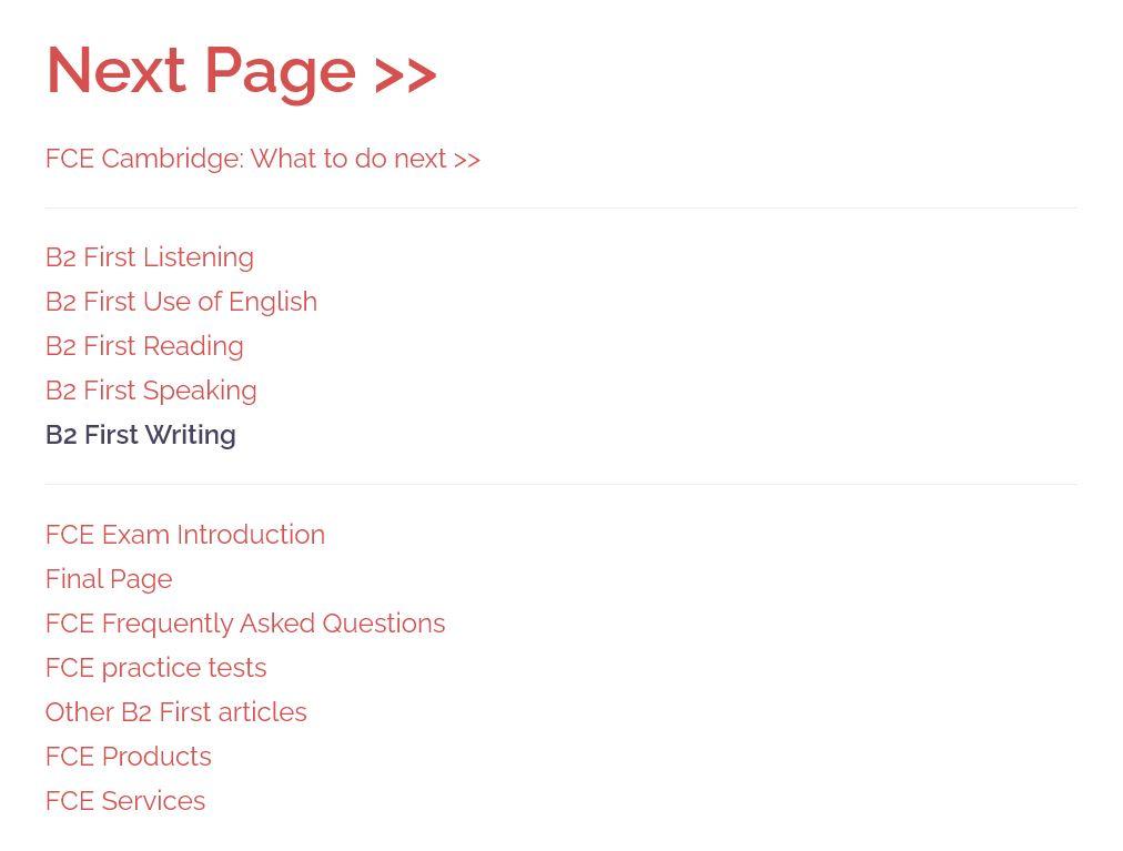 b2 first writing page