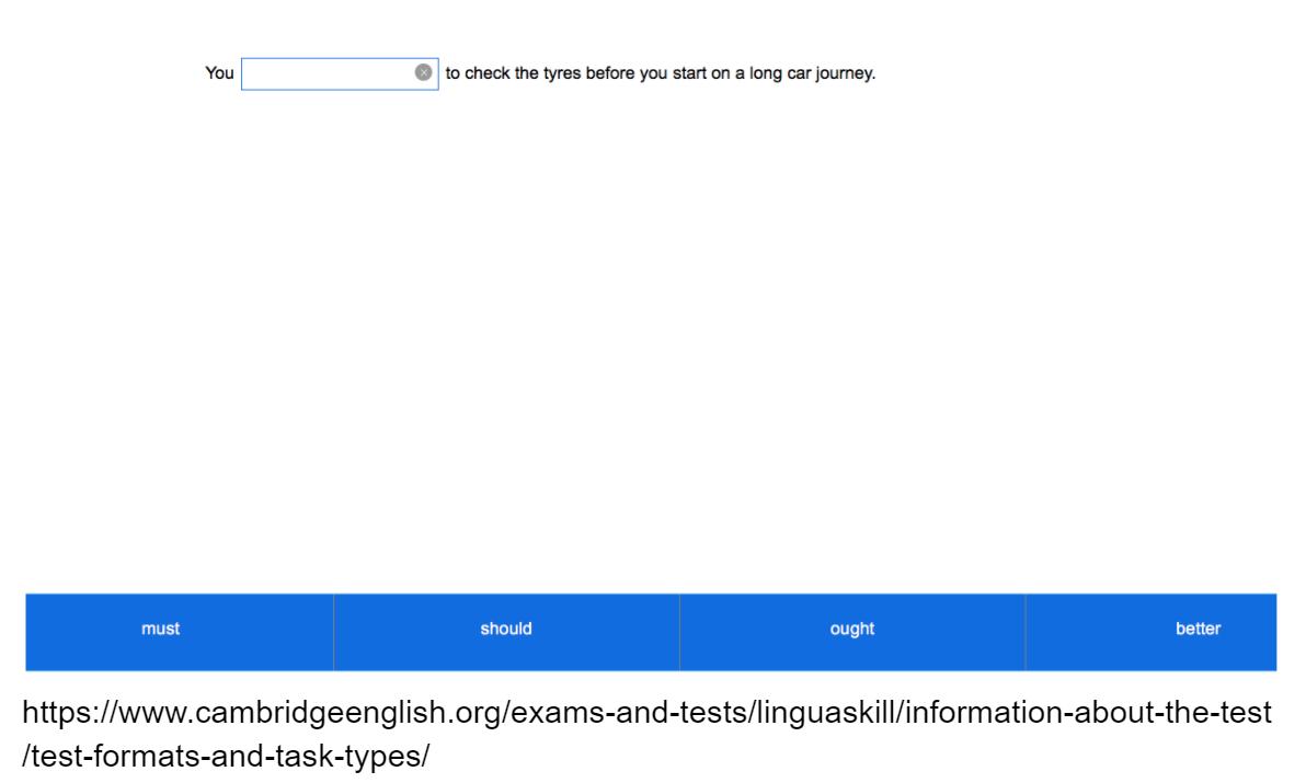 Linguaskill Reading Gapped Sentences