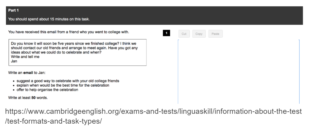 Linguaskill Writing Email