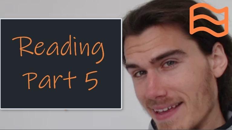 cae reading part 5