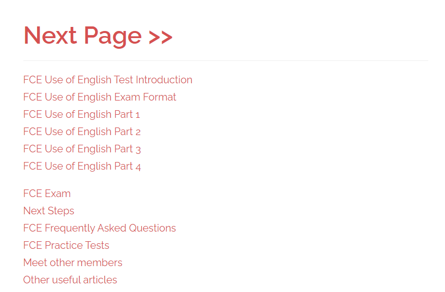 fce use of english course