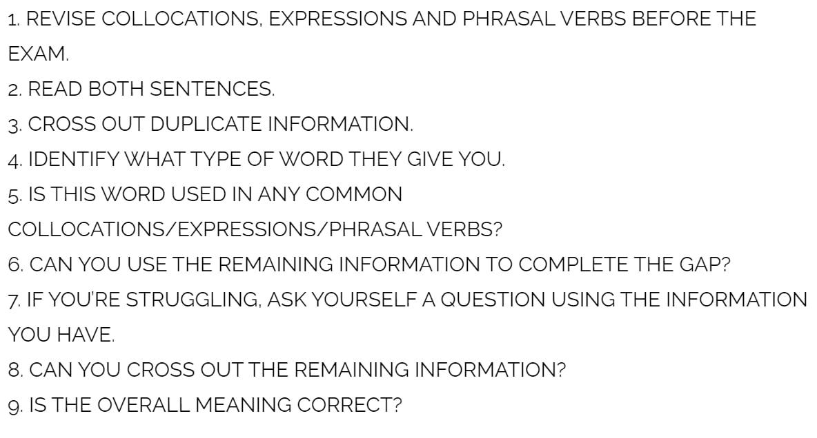 fce use of english part 4 technique