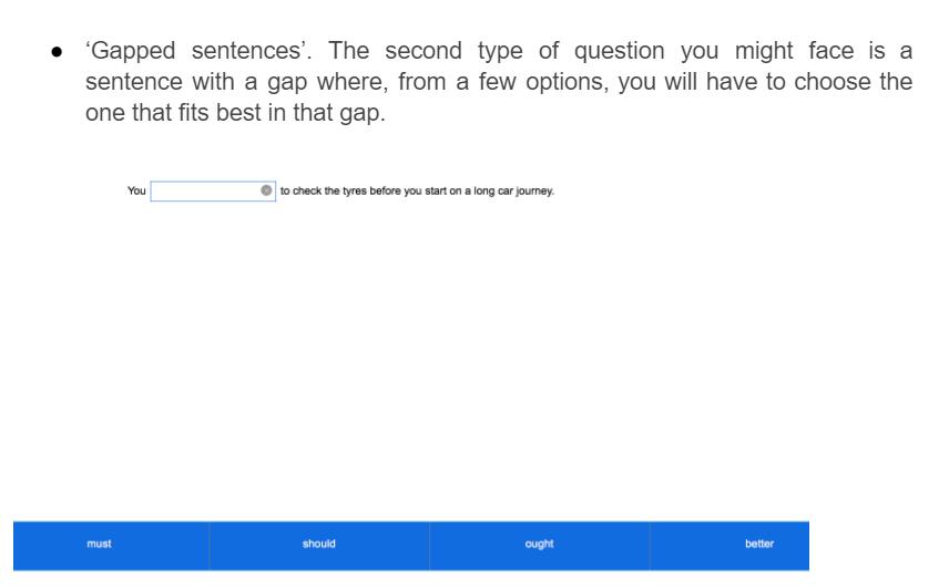 gapped sentences format