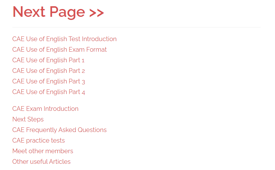 use of english course