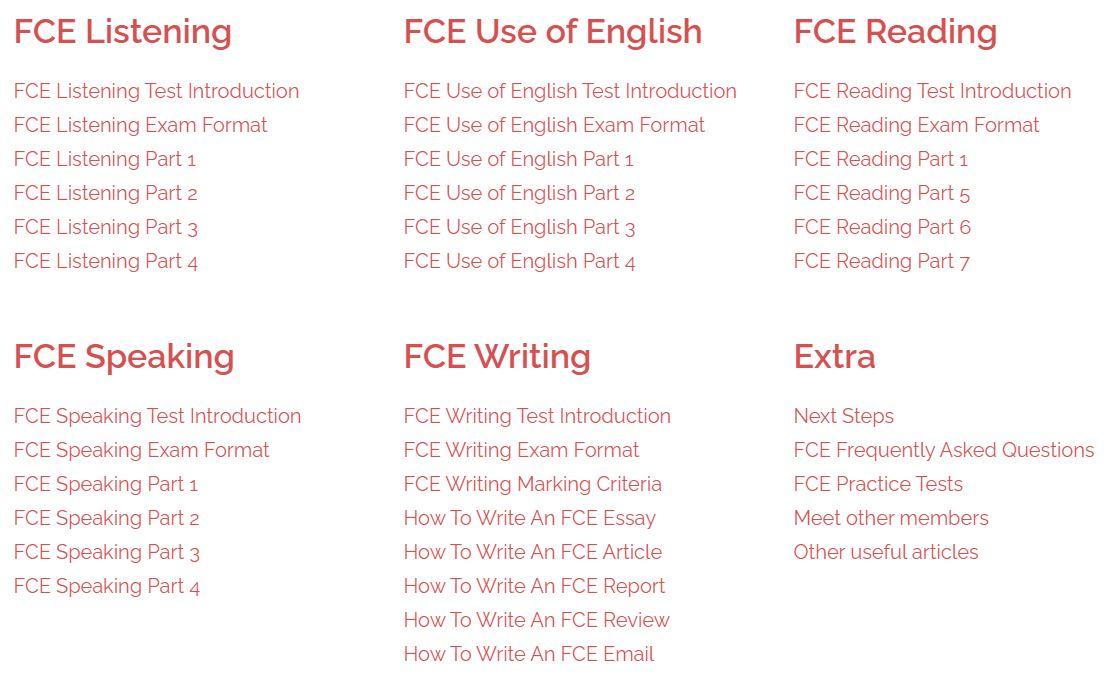 fce course
